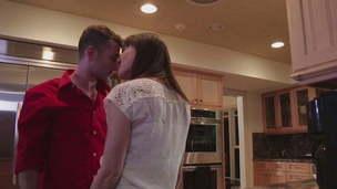 hot mom kissing milf