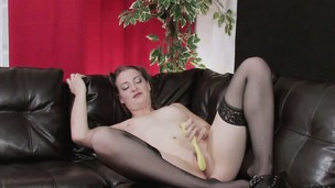 brunette hairy stockings