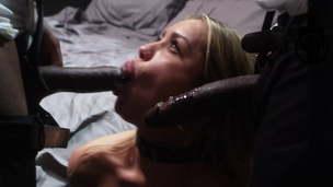 blonde interracial porn